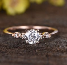 This diamond ring has five gems, giving it five stars. | 18 Jaw Dropping Engagement Rings That Are Under $500 #engagementrings