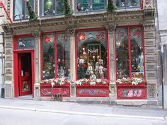 Noel Eternal store, Old Montreal Christmas Window Display, Christmas Store, Christmas Shopping, Christmas Fun, Vintage Christmas, Christmas Decorations, Holiday Decor, Christmas Windows, Christmas Markets