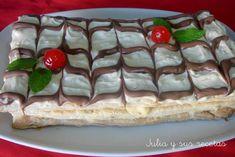 Una maravilla de  tarta esta milhojas francesa , bonita de ver y deliciosa de comer.   Para hacerla utilizamos el hojaldre, un ma...