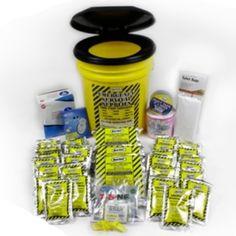 Complete Classroom Kit in Emergency Lockdown Bucket, school safety, ALICE kits, survival food, earthquake kits, emergency sanitation toilet, disaster kits