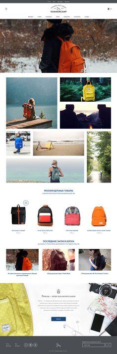 Summercamp - Minimal Web Design