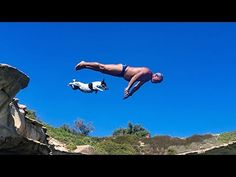 Titti The Pet Jack Russell Jumps From Rocks With Her Human : Video Clips From The Coolest One
