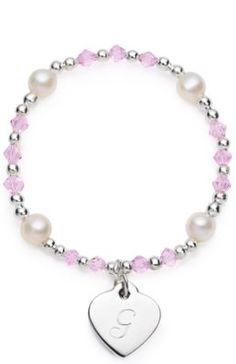 Girls Heart Charm Bracelet weddingshop.theknot.com/girls-heart-charm-bracelet.aspx #knotshop #weddings