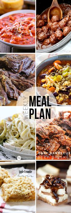 Easy Meal Plan #27 - you need this meal plan series in your life. Every recipe is awesome! Such a great resource for planning your dinners.