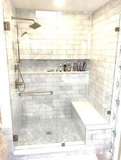 Lovely Bathroom Shower Remodel Ideas is part of Master bathroom decor A bath remodel is no small undertaking So before you start tearing up the tiles and picking out the tub, get a little advic - Diy Bathroom, Bathroom Remodel Shower, Modern Master Bathroom, Master Bathroom Decor, Bathroom Makeover, Bathroom Renovations, Farmhouse Master Bathroom, Bathroom Redo, Bathroom Inspiration