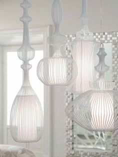 Iron Pendant lamp WIRE by ELITE | #Design Nada Lin #light #white