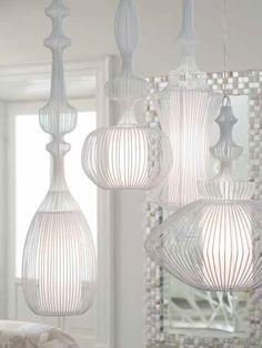 ペンダントライト Wire コレクション by ELITE - divisione matteograssi | デザイン: Nada Lin