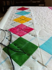 Argyle stitching Just Jessica -  (better SITD around the colored squares or the border isn't going to lay nicely....)