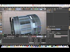 Modeling a Canon Lens using Cinema 4D for Mac - YouTube