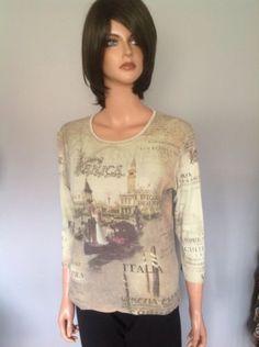 Cactus Cotton Top Venice Italy Beaded M Designer Fashion Clothing Hip Fun | eBay
