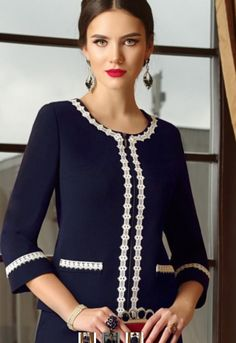 Designer costume in the spirit of modern Italian classics - шить . - Designer costume in the spirit of modern Italian classics – шитье - Chanel Fashion, Love Fashion, Plus Size Fashion, Womens Fashion, Fashion Tips, Couture Dresses, Fashion Dresses, Classy Outfits, Cool Outfits