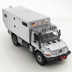 mercedes zetros home 3d model - Mercedes Zetros Motorhome... by jekich1