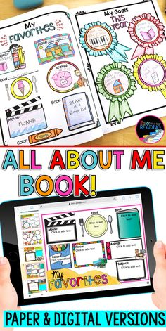 All About Me Book Digital or Printable