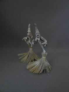 Zombie Witch Brooms Haunted Dollhouse Miniatures OOAK By Pat Benedict | eBay