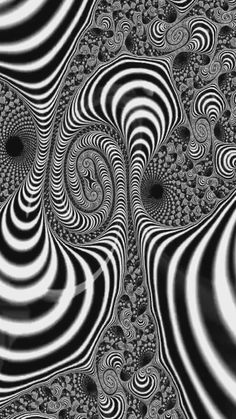 Trippy Fractal Spiral - Fly with me. Art Prints for sale. Fractal Spiral black and white, Animation. Illusion Kunst, Illusion Art, Illusion Pictures, Cool Optical Illusions, Trippy Wallpaper, Bild Tattoos, Geometry Art, Art Prints For Sale, Art Graphique