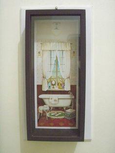 Quadro para lavabo e banheiro em Arte Francesa R$ 45,50