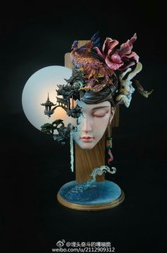 Sculpture: Sculptures can be created using different kinds of materials like paper, clay, wood, stone etc and are available in many different shapes and sizes. Statues, Art Sculpture, Wow Art, Clay Art, Traditional Art, Unique Art, Art Inspo, Amazing Art, Sculpting