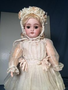 """Charming 13"""" Antique Bisque Head Doll Simon Halbig 1079 from marywhite on Ruby Lane"""