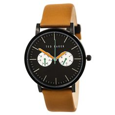 Ted Baker 10024530 Men's Brunoli Black Dial Tan Leather Strap Watch