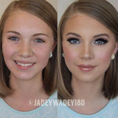 Pageant/Event Makeup Transformation (Kissable Complexions) - more_make_up_pintennium Pageant Makeup, Pageant Hair, Prom Makeup, Wedding Hair And Makeup, Eye Makeup, Beauty Pageant, Wedding Airbrush Makeup, Pageant Tips, Fair Skin Makeup