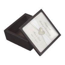 Damask 30th Wedding Anniversary Gift Box Premium Keepsake Box