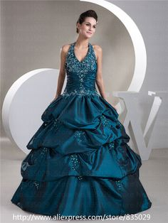Masquerade Ball Gowns   Halter V Neck Pleated Taffeta Masquerade Ball Gowns Royal Blue ...