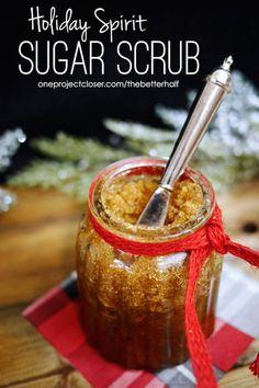 Holiday Spirit DIY Sugar Scrub with Essential Oils