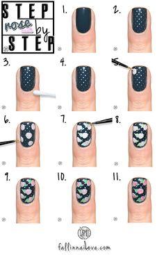 Polishers Inc.: recreate an oldie. | Vintage rose nails tutorial.