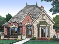 1 Story French Country House Plans