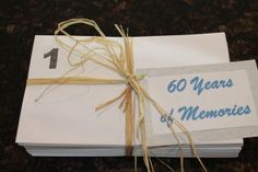 My Dad's 60th Birthday - 60 Years of Memories, what a great idea for someone who says that they need nothing
