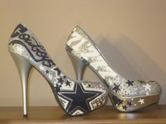 Hand-painted heels for game day?  Wonder if he would make a pair for Texas A&M? https://www.facebook.com/AjaImani