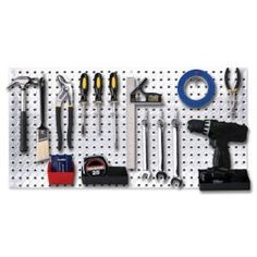 Knape & Vogt 16 in. x 32 in. Diamond Plate Galvanized Steel Pegboard 0204-1632 at The Home Depot - Mobile
