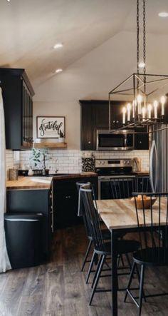 Kitchen Facelift, Kitchen Redo, Living Room Kitchen, New Kitchen, Kitchen Remodel, Open Plan Kitchen, Home And Deco, Küchen Design, Interior Design Kitchen
