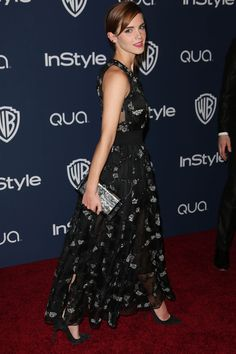 Emma Watson Changes Out Of Her Golden Globes Dress For The Warner Bros And InStyle After Party - Golden Globes The After-Party Pictures Golden Globes After Party, Golden Globe Award, Emma Watson, Celebrity Dresses, Celebrity Style, Party Pictures, Beautiful Celebrities, Fashion Advice, Style Icons
