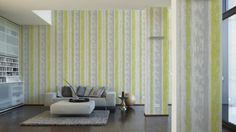 Schöner Wohnen Tapete 944251; simuliert auf der Wand