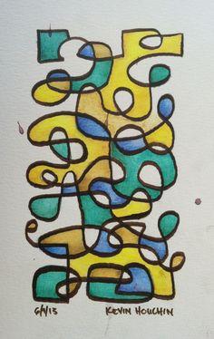 5.5x8.5 watercolor - June 9, 2013 - Kevin E. Houchin