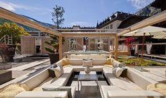 Backstage Hotel & Vernissage :: WedMap Switzerland Vacation, Hotels, Wellness Spa, Zermatt, Alps, Luxury Travel, Backstage, Places To Travel, Patio