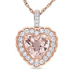 Radiant diamonds & glistening morganite