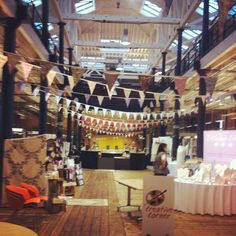 Bunting Queen's Hire House bunting at The Roundhouse in Derby at Save the Date Magazine's event. Round House, Bunting, Save The Date, Derby, Action, Garlands, Group Action, Buntings, Wedding Invitation