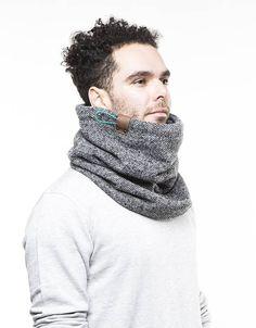 Herren-Schal, grau Strickschal, Freundgeschenk, einzigartige Geschenke für Männer Großer, Freundgeschenk für ihn, Winter-Accessoire Das minimalistische Design vereint Komfort, Wärme und Stil. Dieser Loop-Schal ist eine große Winter-Accessoire für alle Altersgruppen. Die äußere Hülle dieser