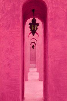 pink hallway #colorstory
