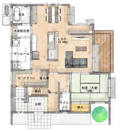 Traditional Japanese House, Room Planning, House Layouts, Gaudi, My Dream Home, Home Projects, My House, House Plans, Floor Plans