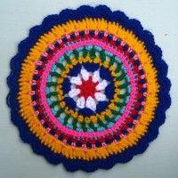 Crochet Mandala Wheel made by Serafine, Portugal, for yarndale.co.uk