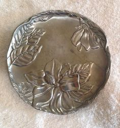 "Arthur Court Lily Floral Decorative Cheese Plate 8"" Diameter"
