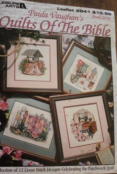 Paula Vaughan Quilts of the Bible Cross Stitch Pattern Book 2841 Sixty 60   eBay