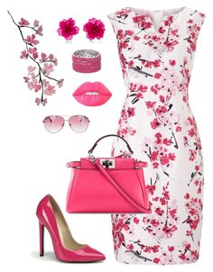 """Let's do lunch"" by holgal ❤ liked on Polyvore featuring Precis Petite, Fendi, Lime Crime and Minnie Rose"