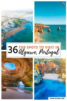36 BEST places to Visit in Algarve Portugal + free map included! 36 top spots to visit in Algarve-Portugal. Algarve is the south coast of Portugal, and it's filled with incredible places to see. The beaches in Algarve are among the m Places In Portugal, Spain And Portugal, Portugal Travel, Portugal Tourism, Faro Portugal, Portugal Attractions, Best Beaches In Portugal, Albufeira Portugal, Portugal Vacation