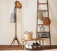Front entry???? Lucy Leaning Ladder | Pottery Barn