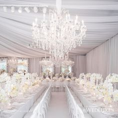 1000 Images About White Wedding Receptions On Pinterest
