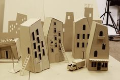 40 Incredible Examples Of Cardboard City Art - Bored Art Cardboard City, Cardboard Sculpture, Cardboard Toys, Cardboard Playhouse, Cardboard Furniture, Karton Design, Paper Art, Paper Crafts, Paper Clay